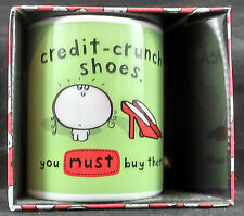 Vimrod Mug Credit Crunch Shoes You MUST buy them Great fun gift Funny New
