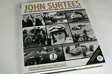 SIGNED John Surtees: My Incredible Life on Two & Four Wheels, NEW, Ferrari F1