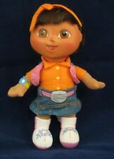 "Fisher Price Dora the Explorer Doll 29P21 Stuffed Toy 9"" Jean Skirt Orange Top"