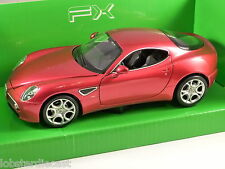 ALFA ROMEO 8C COMPETIZIONE in Red 1/24 scale model by WELLY