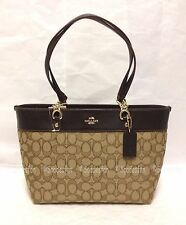 Coach 37118 Signature Small Sophia Tote Bag Purse Light Gold KHAKI BROWN NWT