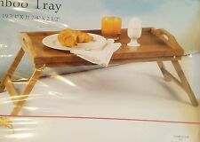 BAMBOO SERVING TRAY VERSITILE BREAKFAST IN BED KITCHEN ~D1224