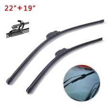 "22"" + 19"" U / J Hook PREMIUM ALL SEASONS BRACKETLESS WINDSHIELD WIPER BLADES"