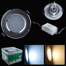 4/1x 3W 5W 7W 9W 12W LED Recessed Ceiling Light Downlight Lamp Frosted Cover Kit