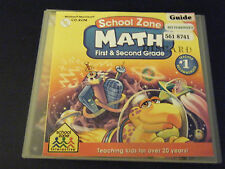 School Zone Math - 1st & 2nd Grades (PC & MAC, 2000)
