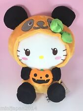 "Hello Kitty BIG Plush Sanrio Halloween Pumpkin Panda orange 12"" ORIGINAL JAPAN"
