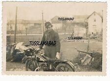 Motorrad Kennzeichen Kennung Krad Kind Uniform Wehrmacht Foto 2 WK