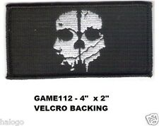 CALL OF DUTY GHOST UNIFORM PATCH WITH HOOK BACKING- GAME112