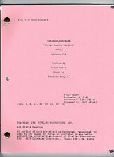 "NORTHERN EXPOSURE show script ""Things Become Extinct"""