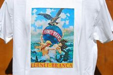 graphic retro art vintage Cotton Mens T Shirt , S,M,L,XL , FERNET - BRANCA