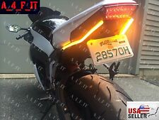 LED Turn Signals Lights Honda CBR 600rr 1000rr Black Universal Running DRL