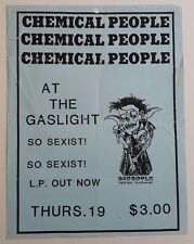 CHEMICAL PEOPLE Original Concert Flyer 1988 Gaslight Power Pop PunK Pushead Porn