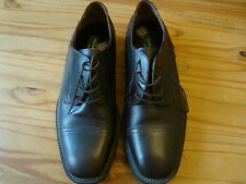 MENS REAL LEATHER ITALIAN LACE UP FORMAL SHOES SIZE 10
