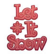 SPELLBINDERS Holiday DIE D-Lites LET IT SNOW S2-183 4 Dies Cut Emboss Stencil