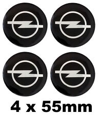 OPEL ENJOLIVEURS center hub caps badge emblème autocollant 55mm Set de 4 NOUVEAU
