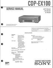 Sony original Service Manual para CDP-ex 100
