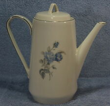 """Hutschenreuther Alicia Blue Rose 8"""" Coffee Pot with Lid"""