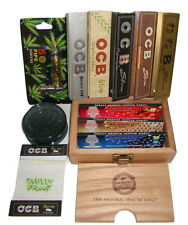 Raw Deluxe OCB Gift Box Kit Smoking Tips Flavoured Paper Grinder Pipe Cone
