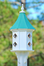 """14"""" Dovecote House Patina Copper roof, NEW, Handmade in USA"""