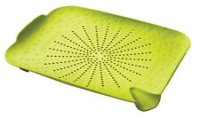 Sink Station Lime Green Flat Colander Food Strainer Wash Peel Prepare Utensil