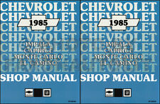 1985 Chevy Shop Manual Set El Camino Impala Caprice Monte Carlo GMC Caballero