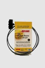 """New! 17410 RUTLAND Pellet Stove/Dryer Vent Cleaning 4"""" Round Brush w/10' Handle"""