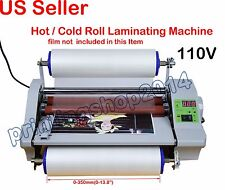 """Newly 110V High Speed 14"""" Hot Thermal Laminator Machine With Digital Control"""