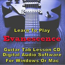 EVANESCENCE Guitar Tab Lesson CD Software - 54 Songs