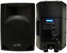 "New 10"" 200W Professional PA,DJ Powered Speaker USB/SD,Mic.RCA Input LCD Screen"