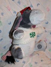 """Eyeore Disney Plush 12.5"""" Snowflake Sweater Cap 9"""" Long Tail"""