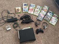 Xbox 360 Elite 120GB Matte Black w/ Kinect,15 Games, and All Accessories