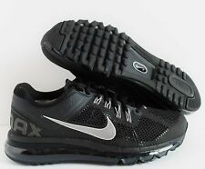 NIKE WOMEN AIR MAX + 2013 BLACK-SILVER-GREY SZ 8 [555363 001]