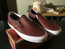 NEW! Vans CLASSIC SLIP ON Perf Leather /Port Royale Men's Shoes 9