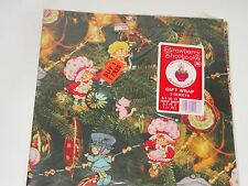 VINTAGE STRAWBERRY SHORTCAKE WRAPPING PAPER CHRISTMAS TREE FUN DESIGN