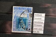 FRANCOBOLLI ITALIA REPUBBLICA 55L. TOSCANA USATI STAMPS ITALY USED (F98648)