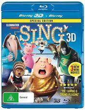 Sing (3D/HD) NEW B Region Blu Ray