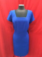 ADRAINNA PAPELL  DRESS/NEW WITH TAG//SIZE 14W/RETAIL$160/LENGTH 39'/ROYAL/LINED/