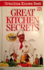 Great Kitchen Secrets As Seen On TV Easy Recipe Book Chef Tony Notaro Hardcover
