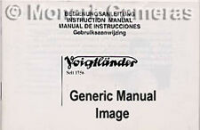 VOIGTLANDER R2 s c camera instruction book, plus mentionnés