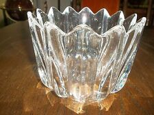 """Orrefors: Heavy Crystal 4.5"""" x 6"""" FLORAL PATTERN BOWL   140401020"""