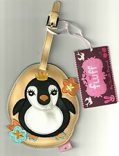 FAT KING PENGUIN CUTIES FLUFF LUGGAGE TAG NEW VEGAN VINYL NWT COLLECTIBLE