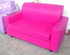 Divano due 2 posti Divanetto fuxia tessuto ecopelle sofà poltrona relax sedia