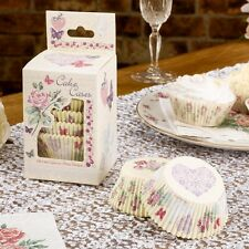 100 CUPCAKE CASES WITH LOVE VINTAGE RANGE  Wedding Engagement Hearts Roses