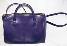 Kurt Geiger Saffiano Bowling Bag Purple leather handbag new