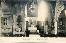 CP 60 Oise - Cauvigny - Eglise, vue intérieure