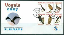 SURINAME UITGAVE 2007 FDC 304 A/B VOGELS 2007