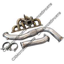 CXRacing Manifold Downpipe Kit For RB20 RB25 RB25DET 240SX S13 S14 Top Mount