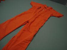 Inmate Jail Prisoner Convict Costume Prison Orange Jumpsuit 4XL