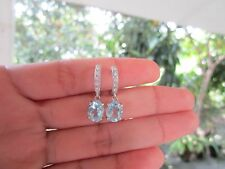 .20 Carat Diamond White Gold Dangling Earrings 14k sep013