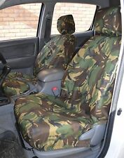 Toyota Hilux 2005-2016 Green DPM Camo Tailored & Waterproof Front Seat Covers